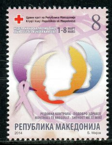 180 - MACEDONIA 2014 - Red Cross - Cancer - MNH Set