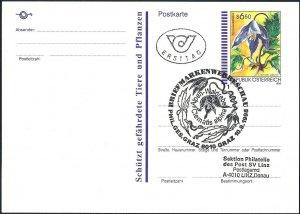 1998 Österreich Alpenwaldrebe Postkarte Nr 47 mit FDC-Sonderstempel gelaufen!
