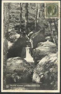 LUXEMBOURG 1935 postcard used Echternach to Belgium.....................58552
