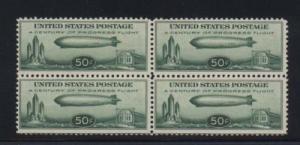 USA #C18 NH Mint Fresh Block