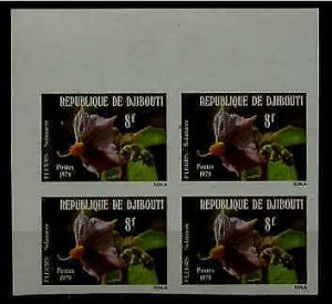 Djibouti 499 MNH imperf.bl.of 4 Flowers