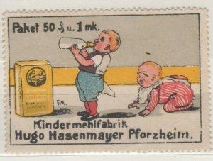 Germany - Hugo Hasenmeyer Children's Flour Advertising Stamp Pforzheim NG