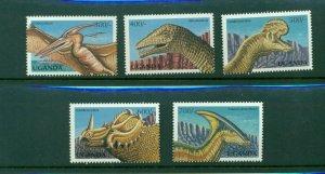 Uganda #1541-45 (1998 Dinosaurs set)  VFMNH  CV $5.50