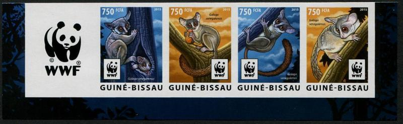HERRICKSTAMP NEW ISSUES GUINEA BISSAU W.W.F. Senegal Bushbaby Imperf