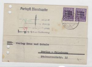 German Postal History Stamps Postcard Ref: R5112