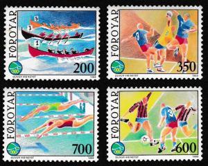 Faroe Is. Sports 4v SG#181-184 SC#193-196