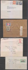 GUATEMALA 1922-79 COLLECTION OF 30 COVERS TO USA WITH FF, CENSOR, MAIL BOX, PS+