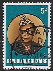 Zaire # 1056 - President Mobutu - used