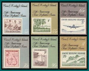 Cocos 1988 Stamp Anniversary, MNH  177-182,SG185-SG190