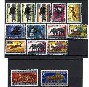 RWANDA 1964 ANIMAL - MAMALS  #55-69   MNH