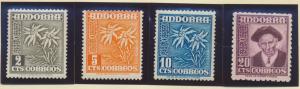 Andorra (Spanish Administration) Stamps Scott #37 To 41, Mint Hinged - Free U...