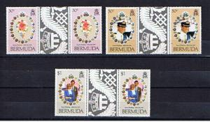BERMUDA 1981 ROYAL WEDDING GUTTER PAIRS