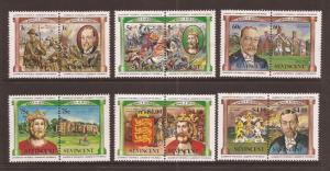 St.Vincent MNH 731-6 King George & World War I 1984