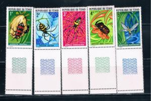 Chad 252-56 MNH set Insects and Spiders (C0122)