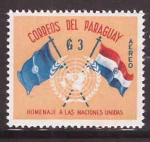 Paraguay Scott C272 MH* flag stamp