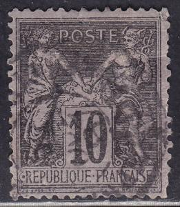 France 91 USED 1877 Peace & Commerce 10c