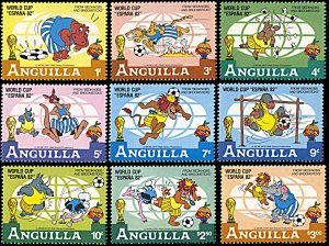 Anguilla 492-500, MNH, Disney at World Cup Football Championship 1982