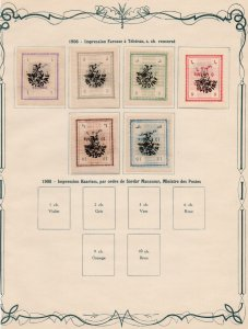 MIDDLE EAST: 1906 Examples - Ex-Old Time Collection - Album Page (37914)