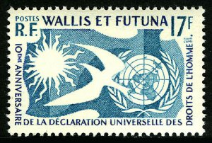 Wallis & Futuna 153, MNH. UN Human Rights. Dove, 1958