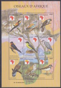 1999 Central African Republic 2180-88KL Birds 15,00 €