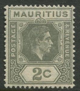 Mauritius - Scott 211a - KGVI Definitives -1938 - MVLH - Single 2c Stamp
