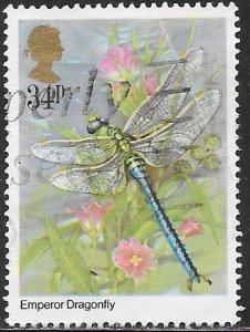 Great Britain 1102 Used - Insects - Emperor Dragonfly (Anax imperator)