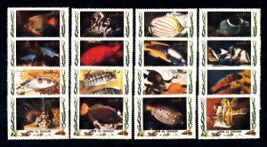 [47905] Umm al Qiwain 1972 Marine life Tropical fish MNH