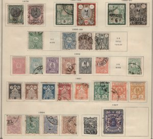 $Large valuable Persia/Iran stamp collection on album pages mix cond.