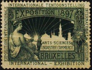 Belgium.1897 Exhibition Label. No Gum