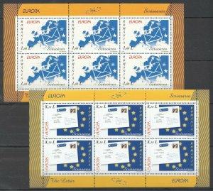 RM166 2008 ROMANIA EUROPA CEPT THE LETTER !!! #6294-95 MICHEL 43 EURO 2KB MNH