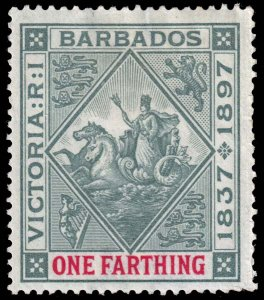 Barbados  - Scott 81 - Mint-Hinged - Damaged Margin