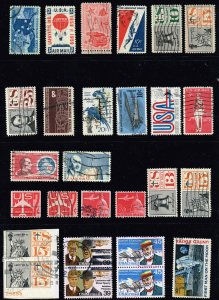 US STAMP BOB AIR MAIL USED STAMP COLLECTION LOT  #M4