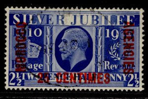 MOROCCO AGENCIES GV SG152, 25c on 2½d blue, FINE USED.