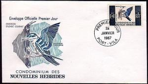 NEW HEBRIDES (French) 1967 5f Bird commem FDC :SG cat £28 as used........36515A