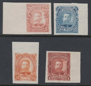 El Salvador 1895 Ezeta Plate Proof Colour Trial Selection. Scott 108-116 var