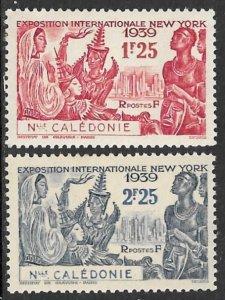 NEW CALEDONIA 1939 NEW YORK WORLD'S FAIR Set Sc 215-216 MH