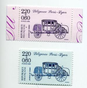 France-Scott's # B608-B609 Paris-Lyon Stagecoach - MNH