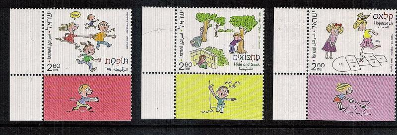 Children Games of Israel  3 var..tabbed  mnh