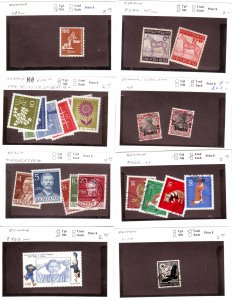 Z626 JL stamps germany mnh/mh/used on sales cards, check scan, all checked sound