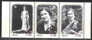 Nevis. 1990. 548-50. Queen mother, dogs. MNH.