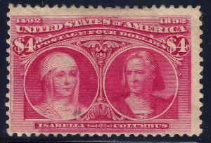 U.S. 244 Mint FVF SCV$2,100.00 (244-32)