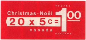 Canada #BK73a & BK73b 1969 Christmas Tab Left & Tab Right