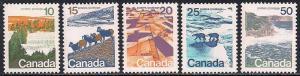 Canada 594-598 MNH - Landscapes