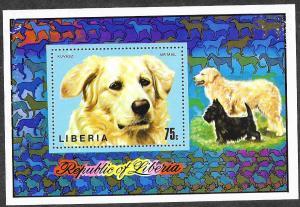 Liberia C202 Mint NH MNH Souvenir Sheet Dogs!