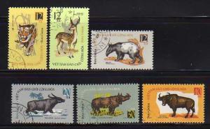 North Vietnam 309-314 Set U Wild Animals (D)