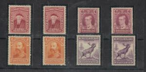 NEWFOUNDLAND  # 62,81,166 -VF-MNH/190-MLH 2,4,5cts 8-VARIOUS ISSUES CAT VAL $102