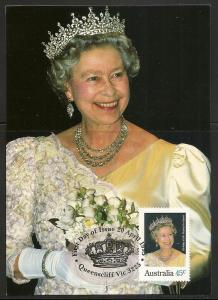 Australia 1431 1995 Elizabeth Birthday Maxi Card FDC
