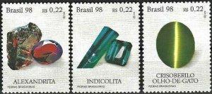 1998 Brazil Beautiful Minerals, complete set VF/MNH! LOOK!
