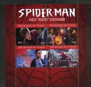Chad 2021 Spider-Man 'No Way Home' sheet mint nh