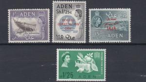 ADEN    1954 - 63    VARIOUS COMMEMORATIVES   MH